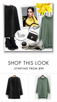"""""""ZAFUL '47"""" by aaidaa ❤ liked on Polyvore featuring Topshop, women's clothing, women, female, woman, misses and juniors"""