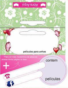 Carol Películas de Adesivos de Unhas: 70 Lindas Tag Personalizadas para colocar seu logo e contatos Grátis Card Templates, Packaging, Planks