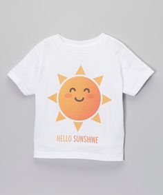 Another great find on #zulily! The Talking Shirt White 'Hello Sunshine' Tee - Infant & Toddler by The Talking Shirt #zulilyfinds