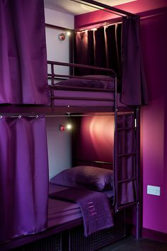 all purple bedroom