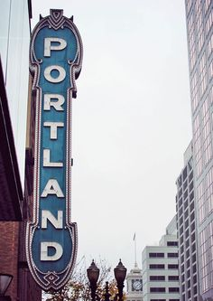 The famous Portland sign. Classic