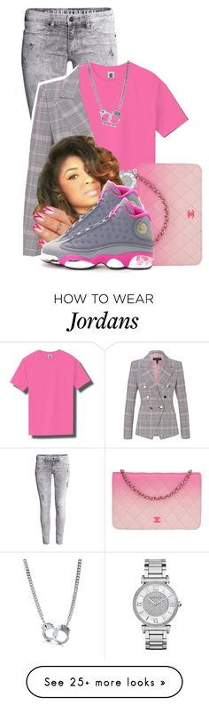 """""""When I Started  Ballin' I Was YUNGGG"""" by aniahrhichkhidd on Polyvore featuring H&M, ESCADA, Michael Kors, Chanel, NIKE and BERRICLE"""