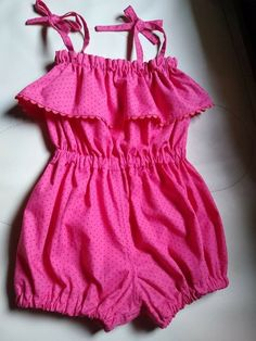 Cute Baby Dresses, Cute Little Girls Outfits, Dresses Kids Girl, Cute Baby Clothes, Kids Outfits, Baby Girl Dress Patterns, Baby Clothes Patterns, Baby Romper Pattern, Kids Dress Wear