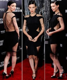 Rooney Mara in Prabel Gurung at the New York premier of Girl With the Dragon Tattoo
