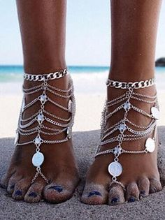 Buy Gold Ankle Bracelets for Women, Get the best deal for Fashion Anklets from the largest wholesale ankets online selection at egubuy.We have a unique collection of Anklets for retailers throughout the world. Colar Fashion, Fashion Necklace, Fashion Jewelry, Women Jewelry, Fashion Boots, Boho Fashion, Fashion Women, Body Chains, Body Jewelry Chains