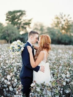 Kissing in the cotton field. Swoon! by Brushfire Photography. See more ----- > http://www.thebridelink.com/blog/2014/03/24/cotton-field-wedding-at-the-windmill-winery/