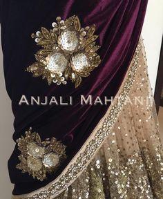 Zardozi Embroidery, Hand Work Embroidery, Embroidery Designs, Bullion Embroidery, Pearl Embroidery, Pakistani Wedding Outfits, Pakistani Dresses, Indian Dresses, Velvet Shawl