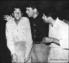 Dean,Burt Lancaster and Jerry on the set of The Colgate Comedy Hour