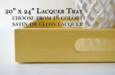 20 x 24 Large Lacquer Serving Tray Choose by GleamingRenditions
