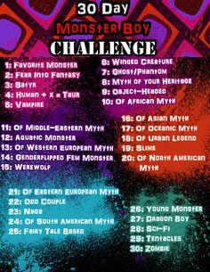 30-Day Monster Boy Challenge! by ArtieDrawings.deviantart.com on @DeviantArt