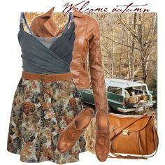 Fall except with boots and no handbag