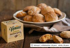 Vaníliás-gyömbéres puszedli Venus, Pretzel Bites, Hamburger, Muffin, Sweets, Bread, Snacks, Breakfast, Recipes