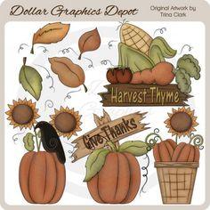 Harvest Thyme - Clip Art