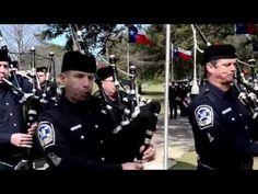 ▶ Bagpipes Texas Cemetery 2-12-2013 Kyle - YouTube