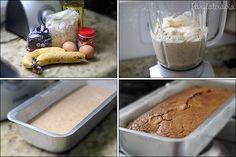 PANELATERAPIA - Blog de Culinária, Gastronomia e Receitas: Bolo de Banana sem Farinha e sem Açúcar