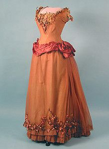 circa 1880 London Label Ballgown