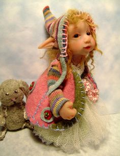 A Wee Pixie byTricia Lancia -- good ears -- would be good to needlefelt