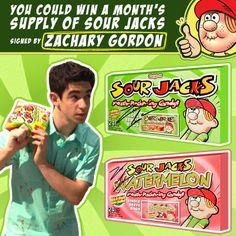 Win it Sour Jacks for a Month awesome love these so much won a pack of them a few months ago and cannot find them in my stores anymore and nothing taste like them these are awesome