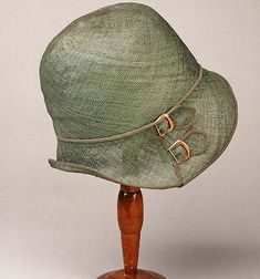 1920s straw hat with buckles
