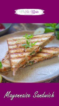 Cooking Recipes Veg, Easy Veg Recipes, Spicy Recipes, Indian Food Recipes, Easy Breakfast Recipes Veg, Grilled Sandwich Recipe, Vegetarian Sandwich Recipes, Easy Sandwich Recipes, Sandwich Video