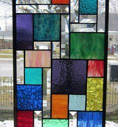 Tiffany Stained Glass Window Panels - Ideas on Foter Faux Stained Glass, Stained Glass Designs, Stained Glass Projects, Stained Glass Patterns, Stained Glass Windows, Window Glass, Modern Stained Glass Panels, Painting On Glass Windows, Glass Partition