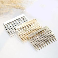 Antique Silver Tone Hair Slide Clip Bobby Pin with 8mm Glue Pad Accessories ML