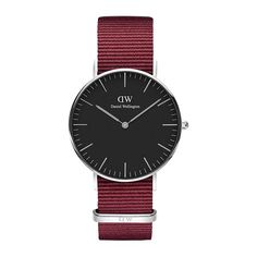 Women's Luxury Watches For Travel And Fashion – Voyage Afield Daniel Wellington Classic, Daniel Wellington Watch, Big Watches, Unique Watches, Amazing Watches, Nato Strap, Skagen, Ruby Red