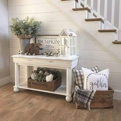 48 Awesome Modern Farmhouse Entryway Decorating Ideas Page 30 of 47 LoveIn Hom. - 48 Awesome Modern Farmhouse Entryway Decorating Ideas Page 30 of 47 LoveIn Home Entryway Decor Id - Diy Home Decor Rustic, Country Farmhouse Decor, Farmhouse Homes, Farmhouse Furniture, Farmhouse Design, Modern Farmhouse, Target Farmhouse, Rustic Furniture, Modern Decor