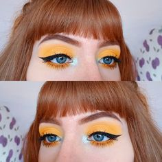 "191 gilla-markeringar, 25 kommentarer - Lucy (@lucy_anna) på Instagram: ""If you can't wear bright yellow eyeshadow on your birthday, when can you? ☀️ ▪ ▪ ▪ Using the yellow…"""