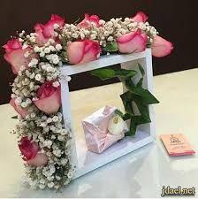 نتيجة بحث الصور عن تغليف هدايا بالورد Floral Wreath Floral Decor