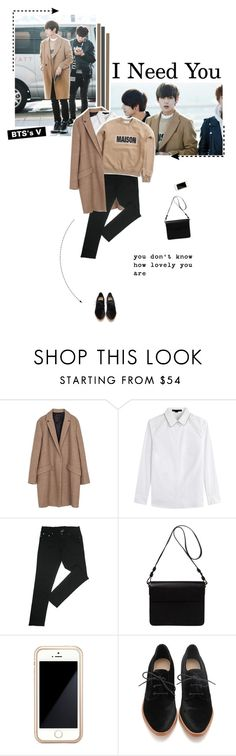 """""""Get the Look: Celebrity Airport Style - V of BTS"""" by aisyh93 ❤ liked on Polyvore featuring Zara, Alexander Wang, Orla Kiely, Squair and Loeffler Randall"""