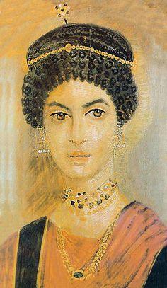 Mummy Portrait, Hawara, Roman Egypt