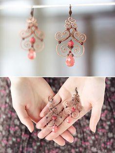 Pretty pink earrings