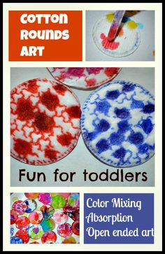 Art projects for preschoolers and toddlers using cotton rounds
