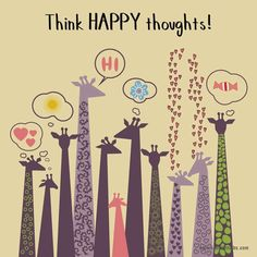 Think happy thoughts- The Grass Skirt Blog #positivity #quotes #inspiration