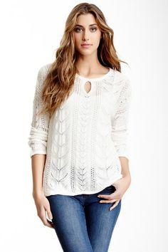 Spiegel Long Sleeve Keyhole Neck Sweater by Smitten on @HauteLook