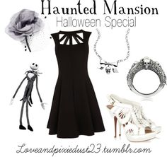 Haunted Mansion by loveandpixiedust featuring pearl jewelry
