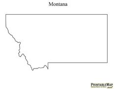 Printable State Capital Map Of Colorado Includes All The States - Montana blank physical map