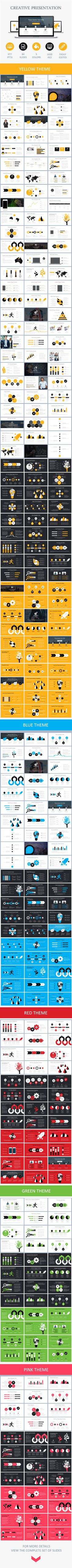 Buy Creative Presentation by phambach on GraphicRiver. Creative Presentation powerpoint template General Features 84 well designed powerpoint slides and aspect rat. Visual Design, Graphisches Design, Slide Design, Layout Design, Flat Design, Keynote Design, Interaction Design, Corporate Design, Cv Web