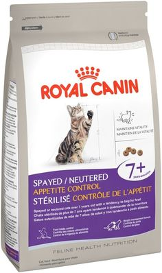 See 22 reviews, photos, and Q&A on Royal Canin® Feline Health Nutrition Spayed/Neutered Appetite Control 7+ Dry Cat Food 6 lb. Bag: This is a brand I buy very often for my cats and dog. #RoyalCanin is a good quality cat food. I like the fact that I have two cats a male and a female. Both are indoor cats that have been spayed and neutered. This  food is specially formulated for them. I also like the fact that it is made with all natural ingredients. My cats just love the taste of thi...