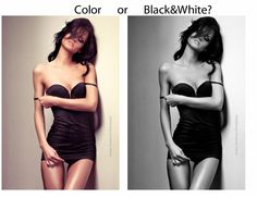 well... still undecided color or bw... femme by zieniu