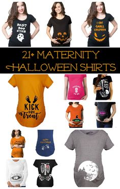 Halloween shirt ideas for pregnant moms - Lots of fun ideas to show off your bump Halloween Pregnancy Shirt, Pregnant Halloween Costumes, Pregnancy Shirts, Halloween Shirt, Halloween Fun, Maternity Halloween, Maternity Shirts, Halloween Food Crafts, Halloween Activities