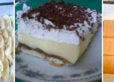 Banana ljetni kolač by piba 8 Good Food, Yummy Food, No Bake Cake, Tiramisu, Cheesecake, Pudding, Cooking, Ethnic Recipes, Cakes