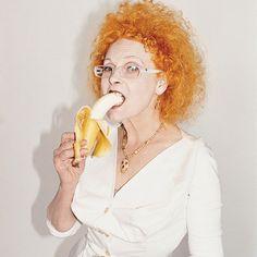 Portrait of Vivianne Westwood by Juergen Teller. Exhibition Teller at De Hallen Haarlem, Vivienne Westwood, Juergen Teller, Advanced Style, Lookbook, Madame, Helmut Lang, Girl Crushes, Redheads, Red Hair