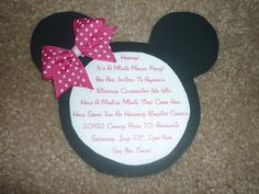 Invite idea - love the bow!