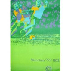 Munich 1972 Olympics Football Poster - Illustraction Gallery