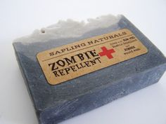 Zombie Repellent Soap  great gift for men nerds by saplingnaturals, $4.75