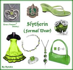 Slytherin Formal Wear 2 - put together by Rynoko (me=StephieDriver)! :D