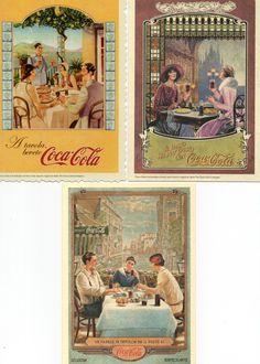 RECETTES DE CUISINE D'ITALIE. PUBLICITE COCA-COLA. LOT 5 CARTES POSTALES.