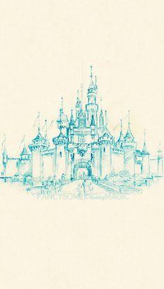#walt #disney #castle #drawing